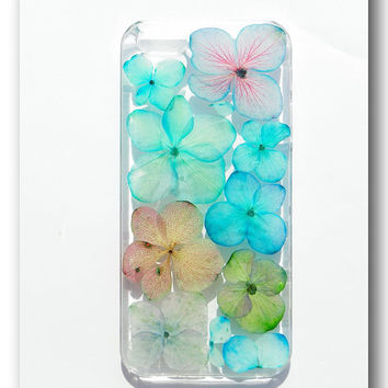 Handmade iPhone 55S case Resin with Dried Flowers   Mix