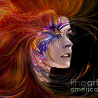 The Phoenix Fire Flames And Rebirth Print By Jaimy Mokos