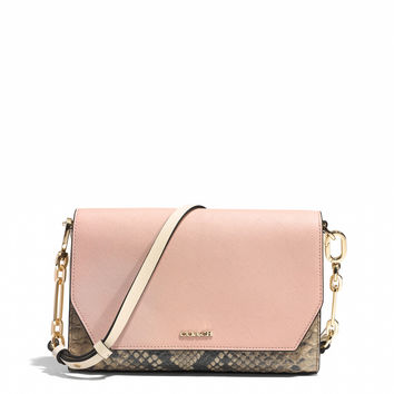 CROSSTOWN CROSSBODY IN SAFFIANO COLORBLOCK MIXED MATERIALS