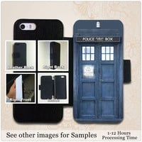 Doctor Who Tardis Leather Wallet Case For iPhone 5s, 5c, 5, 4s, 4 and Galaxy s3, s4, s5, Note 3