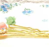 On The Vine  Garden Bobby Pin Set by NestingPretty on Etsy