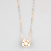 Full Tilt Daisy Ball Necklace Gold One Size For Women 24281462101