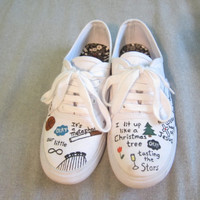 The Fault in Our Stars hand-painted canvas shoes
