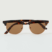 Gold and brown cluBmaster sunglasses - Sale- TOPMAN USA