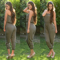 Army Wife Jumpsuit - Olive