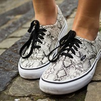 Vans Authentic Snake Silver