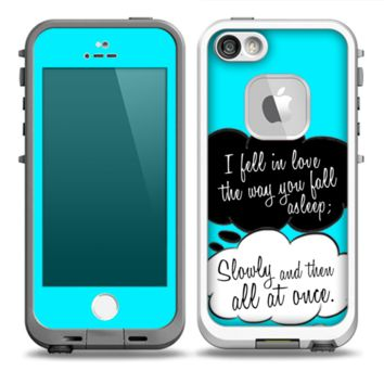 The Okay Speech Bubbles V5 LOVE Skin for the iPhone 5-5s frē LifeProof Case (other models…