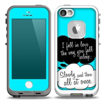 The Okay Speech Bubbles V5 LOVE Skin for the iPhone 5-5s frē LifeProof Case - iPhone