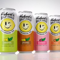 Hubert's Half & Half Lemonade Tea | Flavor: Original Black Tea | 15.5 Fl Oz Cans | Pack of 8| (Green Tea)
