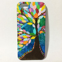 Hand Painted Colorful Tree of Life iPhone 5/5s Case