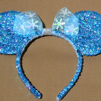 FROZEN Inspired Minnie Ears - Elsa