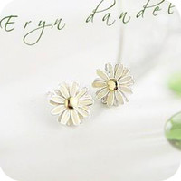 Korean fresh simple daisy flower earrings [0157] - $0.74 : Lowest price, Supply all kinds of cheap fasion jewelry