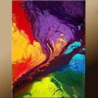 Beyond the Rainbow Abstract Art Painting on Canvas