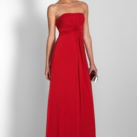 BCBGMAXAZRIA - WHAT'S NEW: TOP SELLERS: MARIOLA STRAPLESS EVENING DRESS