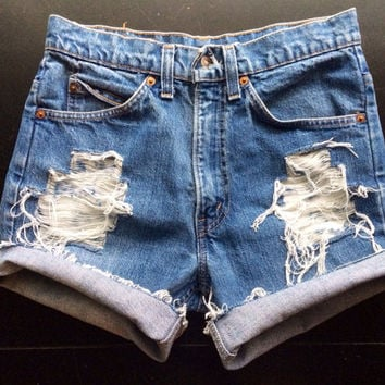 Size 24 Levi 39s High Waisted Jean Shorts