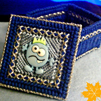 Blue Monster Trinket Box