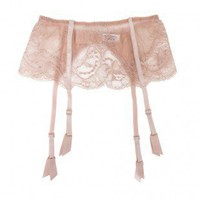 Buy Fleur of England luxury lingerie - Fleur of England Naked suspender belt | Journelle Fine Lingerie