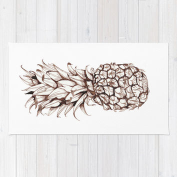 Pineapple Area   Throw Rug by Turn North Press