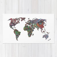 Flags - World Map Area & Throw Rug by Turn North Press