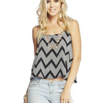Dotted Chevron Swing Tank | Wet Seal