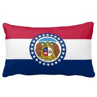 Missouri flag, American state flag Throw Pillow