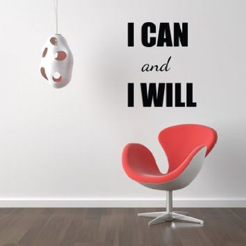 Housewares Vinyl Decal I Can and I Will Home Wall Art Decor Removable Stylish Sticker Mural Unique…