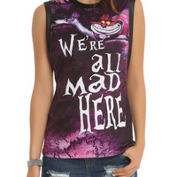 Disney Alice In Wonderland Were All Mad Girls Muscle Top