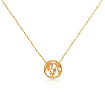 Hollow Out World Map Shape Necklace Fashion jewelry ADP 0618