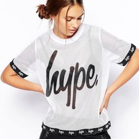 Hype | Hype Mesh T-Shirt With Logo Detail at ASOS