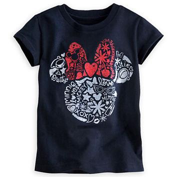 Minnie Mouse Icon Glitter Tee for Girls
