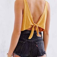 Truly Madly Deeply Tie-Back Cropped Tank Top - Urban Outfitters