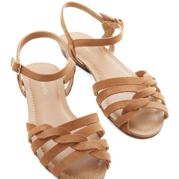 Bass Boho Come Out and Plait Sandal in Caramel