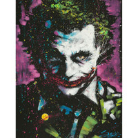 DC Comics The Joker Paint Splatter Poster