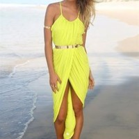 Summer High-Slit Maxi Dress