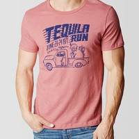 TEQUILA RUN CREW NECK MENS TEE