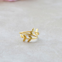 Leaf Knuckle Ring - Gold | Shop Civilized