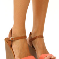American Honey Wedges: Coral
