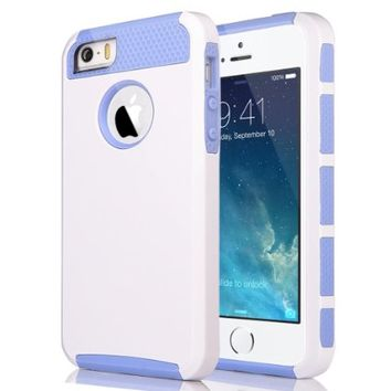 Pandamimi ULAK(TM) Shockproof Dirt Dust Proof Hard Matte PC+TPU Case Cover for Apple iPhone 5S 5 5G…