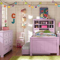 Cottage Colors Pink 5 Pc Twin Bookcase Bedroom
