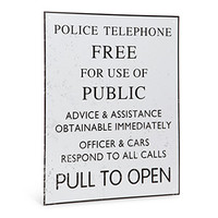 Doctor Who TARDIS Police Box Tin Sign