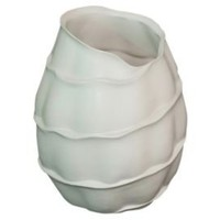 One Kings Lane - Three Hands - Organic Vase, White