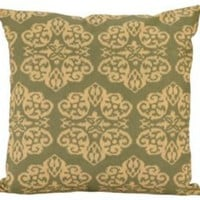 One Kings Lane - Worldly Goods - 18x18 Reversible Pillow, Green