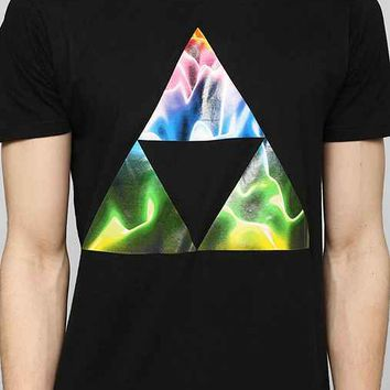 Neon Triangles Waves Tee  Urban Outfitters