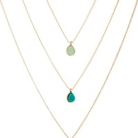 RACHEL Rachel Roy Gold-Tone Tonal Blues Drusy Pendant Necklace Set