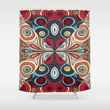 Summer Swirl Shower Curtain by DuckyB (Brandi)