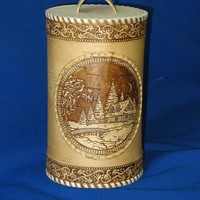 "Birch-bark container ""Winter evening"""
