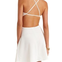 SUPER STRAPPY CUT-OUT BACKLESS SKATER DRESS