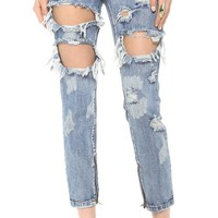 Trashed Freebird Jeans