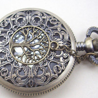 hollow golden dial Pocket watchbig size by sweethearteverybody