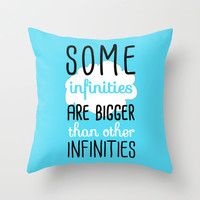 Some Infinities - The Fault In Our Stars Throw Pillow by Tangerine-Tane